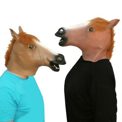 Horse mask - the Bay