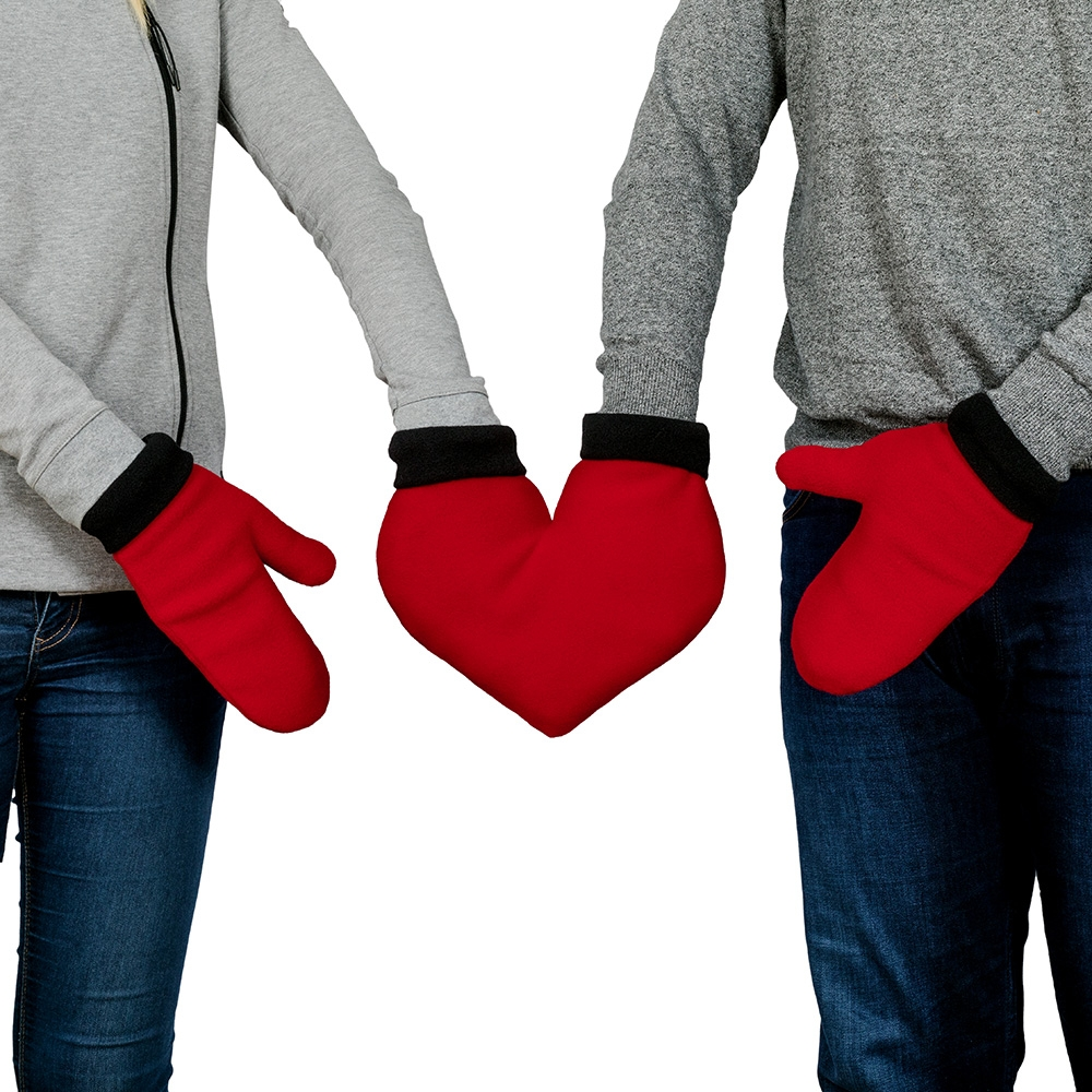Zakochane rękawiczki dla Pary - Czerwone serce