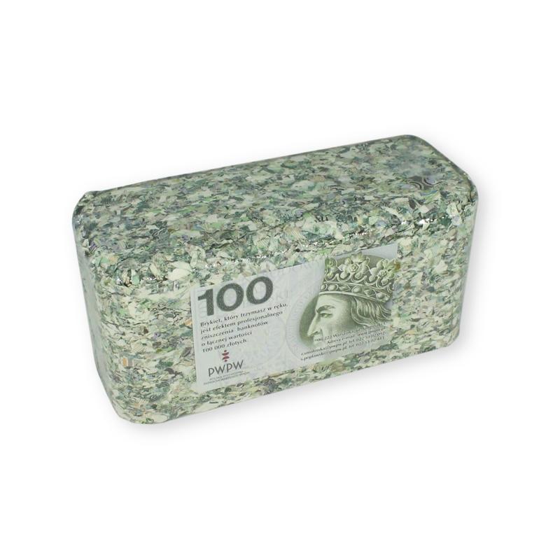 Brykiet z pieniędzy - 100 zł
