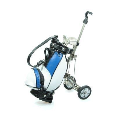 Wózek golfowy z długopisami - Niebieski