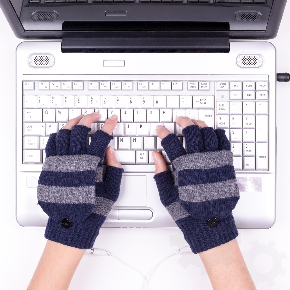 USB warm gloves -<br>Graphite