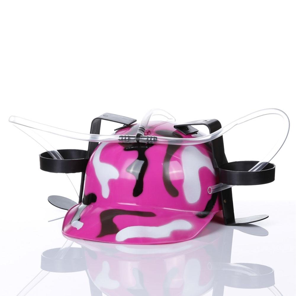 Imprezowy kask - Różowy moro