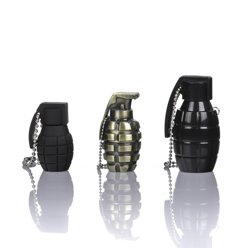 Grenade USB Flash<br> Drive - Black<br>plastic