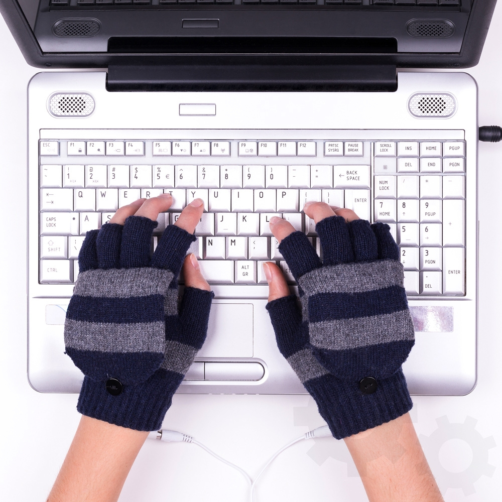USB warm gloves - Brown