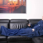 Blanket dressing gown - Navy