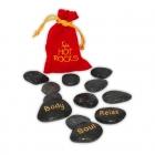 Zestaw gorących kamieni do masażu (EN)