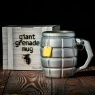 Gigantyczny Kubek Granat - Srebrny