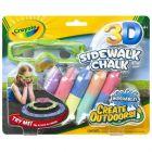 3D sidewalk chalk