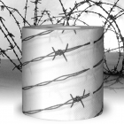 Barbed wire toilet paper