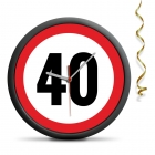 40th Birthday Clock - Exceed the limit