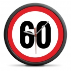 60th Birthday Clock - Exceed the limit