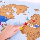 Mapa Odkrywcy - Świat (PL) - ulepszona zdrapka