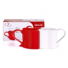 Love mugs - Red and White