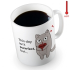 Magic Mug - Kitten - Red