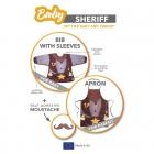 Baby Sheriff - śliniak i fartuch