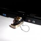 Pendrive Granat 16GB - Metal stare złoto