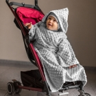 Baby Wrapi - Blanket with sleeves - Grey