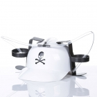 Imprezowy kask - Biały z czaszką