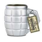 Giant Grenade Mug - Silver