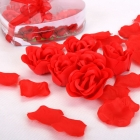 Rose soap, candles & petals