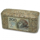 Brykiet z pieniędzy - 200 zł