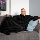 Blanket dressing gown - Black