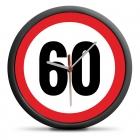 Zegar urodzinowy 60 - Przekrocz limit - cichy mechanizm