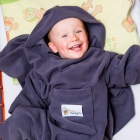 Baby Wrapi Active - Blanket with sleeves - Graphite