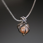 Perly přání - náhrdelník - Růžový