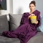 Blanket dressing gown - Plum