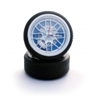 Wheel clock - Blue