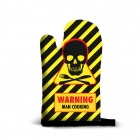 Kitchen glove - Warning Man Cooking (EN)