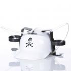 Beer helmet - White with a skull