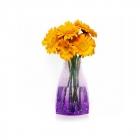 Expanding Flower Vase - Violet Droplets