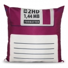 Floppy Disc Pillowcase - Violet