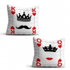 Card Pillowcases - Queen and King