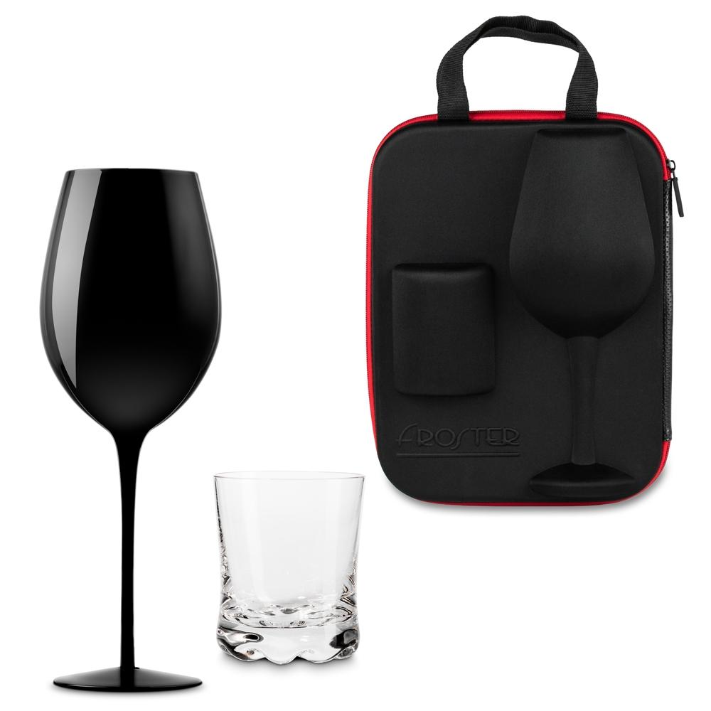 Etui dla Pary z kieliszkiem i szklanką Froster Black