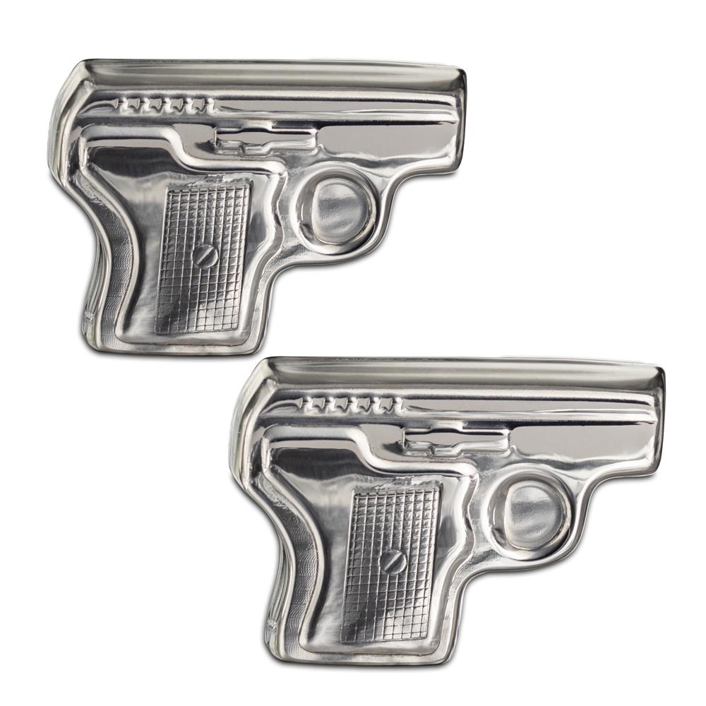 Metalowe Kostki do Drinków - Pistolety