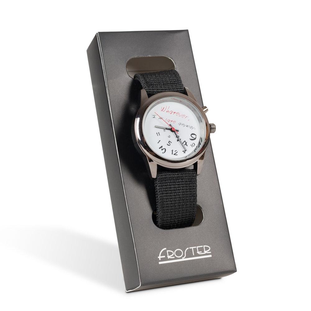 Zegarek na rękę dla spóźnialskich