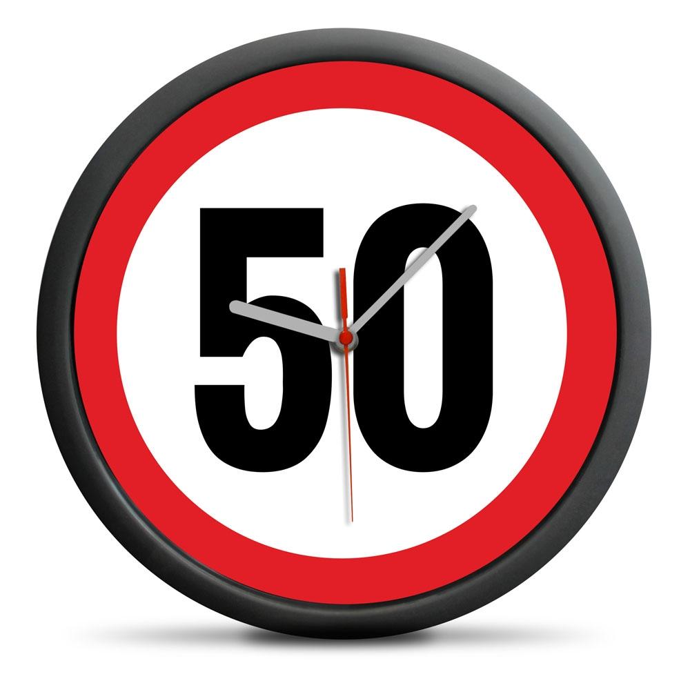 Zegar urodzinowy 50 - Przekrocz limit - cichy mechanizm