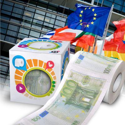 Toilet paper 100<br>Euro - 100 Euro