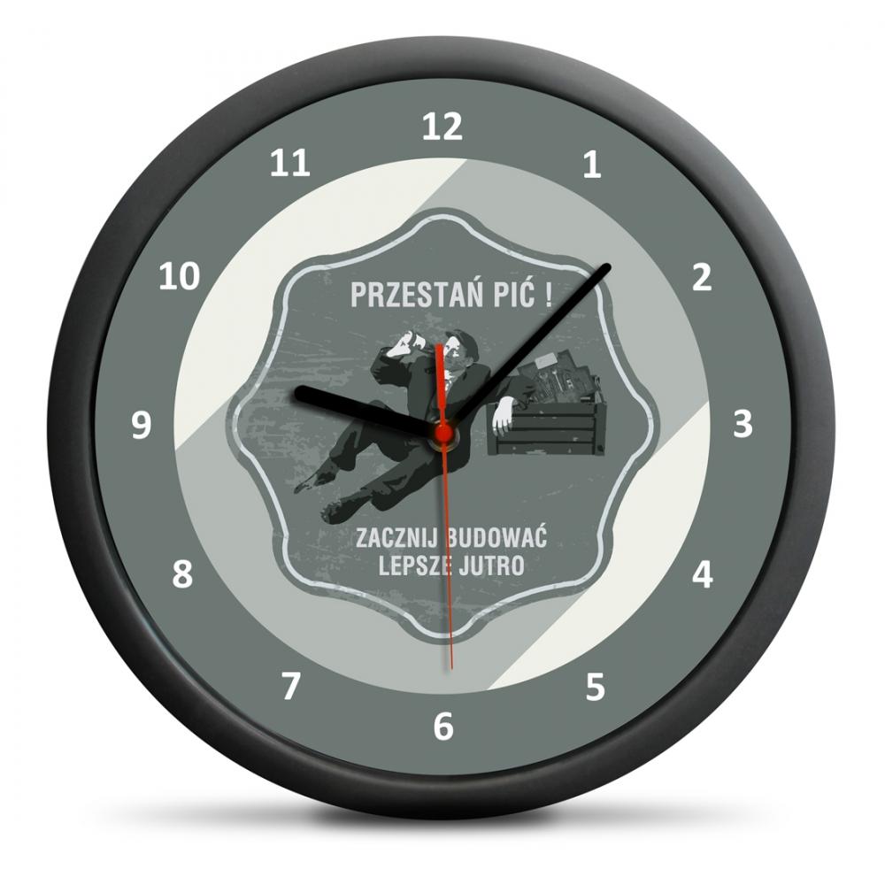 Zegar Retro - Przestań pić