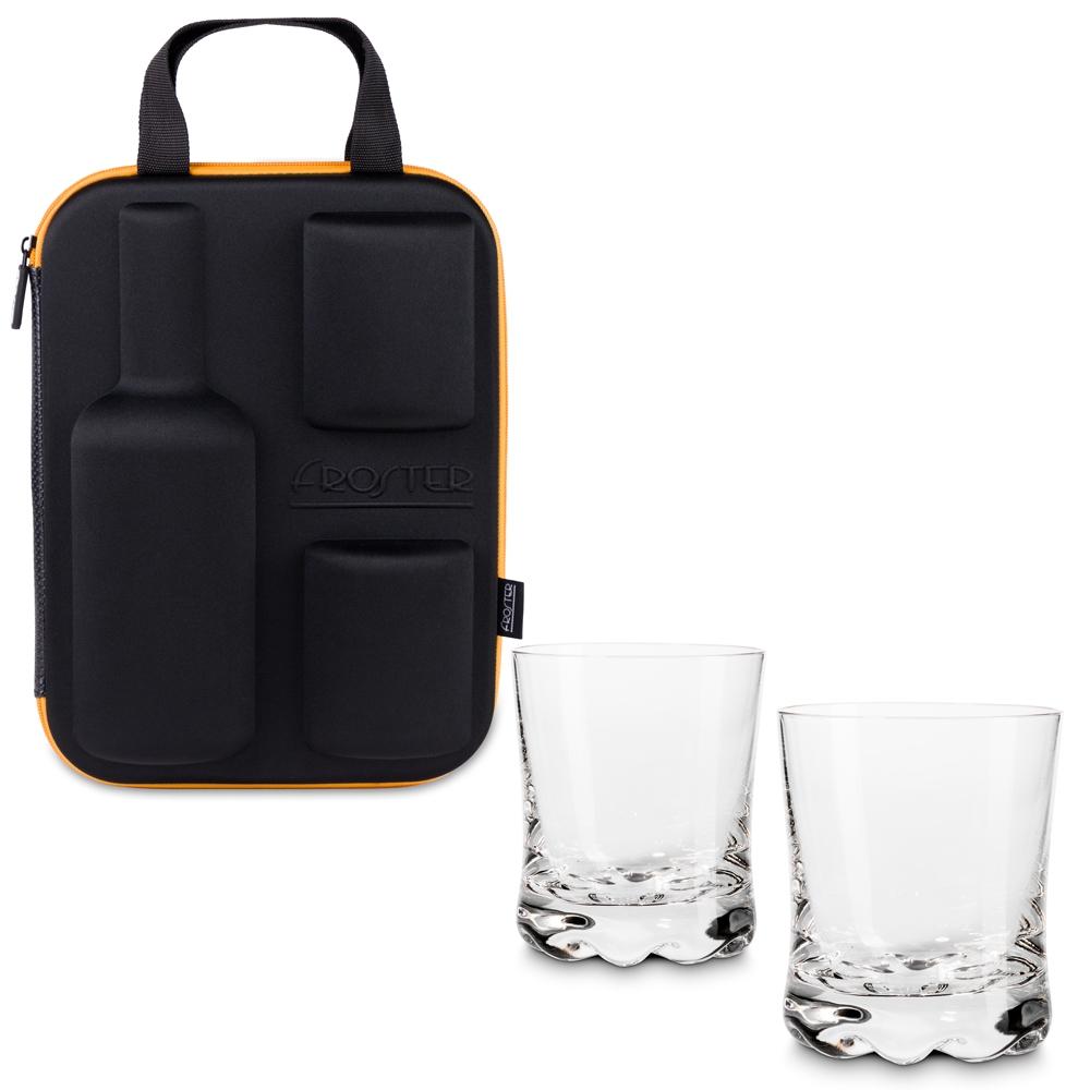 Etui na whisky ze szklankami Froster