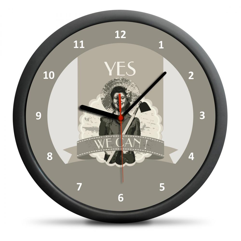 Zegar Retro - Yes We Can
