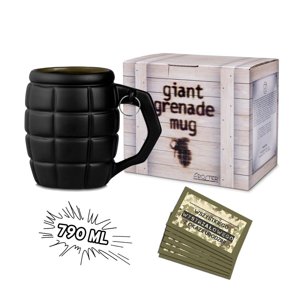 Gigantyczny Kubek Granat - Czarny