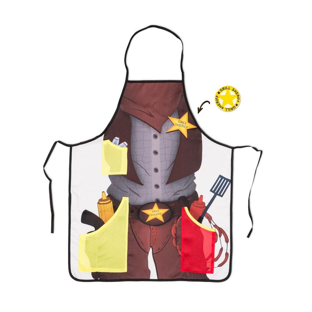 Grill Sheriff - fartuszek z otwieraczem