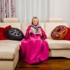 Blanket Dressing Gown Junior - Fuchsia