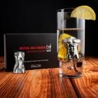 Metalowe Kostki do Drinków - Kobieta i Mężczyzna