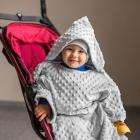 Baby Wrapi - Blanket with sleeves - Grey