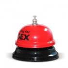 Biurkowy dzwonek na sex - Czerwono-czarny
